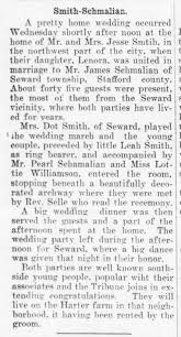 Marriage of James Schmalian and Lenora Smith - Newspapers.com