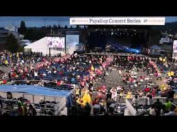 Wa State Fair Concert Seating Chart Flash Mob At The Puyallup Fair Pitbull Concert Youtube