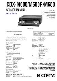 cdx m600r service manual complete service manuals click to enlarge