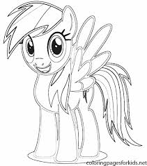 Rainbow Dash Pony Coloring Pages At Getdrawingscom Free For