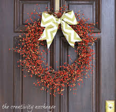 initial wreaths for front doorDecorating Outdoor Fall Wreaths Front Door  Autumn Wreaths  How