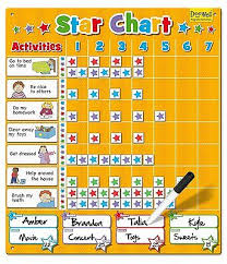 Fiesta Crafts Star Chart Large Magnetic Star Reward Activity Chart For Up To 4