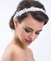 Diad Me Tiare Headband Princesse Cristal Argent Strass