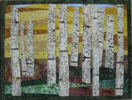 Birch Tree Landscape Quilt - Art Quilts by Sharon & When people see my abstract tree quilts, I am often asked if I ever make  birch tree art quilts. I haven't until now. I just finished my first one. Adamdwight.com