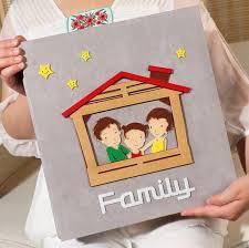Family Photo Albums Creative Felt Cover Black Sheets Photo Album Cartoon