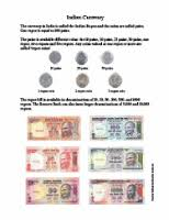 Indian Currency Chart For School Project India For Kids Week 2