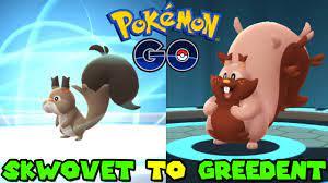Evolving SKWOVET to GREEDENT in Pokemon Go - YouTube