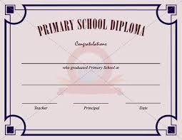 School Certificates Template Primary School Certificate Template Certificate Templates