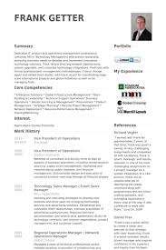 Vice President Of Operations Resume Samples Visualcv Resume