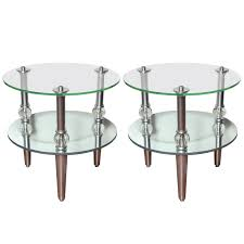 mirrored side table. Pair Of Mid Century Modern Mirrored Side Tables. Tables Table D
