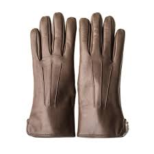 las leather gloves with rabbit fur lining