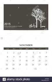 2015 monthly calendar 2015 calendar monthly calendar template for november vector stock