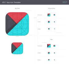 Ipad App Icon Design Template For Ios 7 App Icons