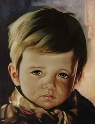 the origins of the legend of the crying boy paintings appear to go back to the early 1950s italy where italian artist giovanni bragolin
