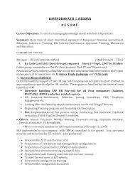 Humanurces Resume Objective Examples Hr Recruiter Summary Sample