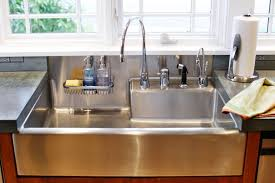 image of stainless steel farmhouse sinks types
