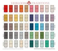 Heirloom Traditions Chalk Type Paint Pantone Color Card
