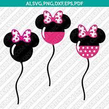 Mickey Minnie Balloons Birthday Party SVG Vector Cricut Cut File –  DNKWorkshop