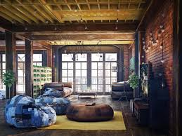 Industrial Living Room Design Loft Living Room Design With Modern Industrial Style Roohome