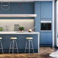 City Living by Mark Hunter Blue Contemporary Kitchen with Gant