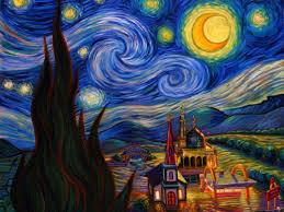 night desktop clipart van gogh starry