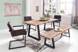 Esszimmertisch Tisch Baumkante Ulana 200x100x76cm Holz Akazie Landhaus Yategocom