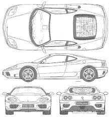 Il design degli esterni, l'abitacolo interno, foto, video, caratteristiche, motore, prestazioni, presentazione, uscita e prezzo Blueprints Cars Ferrari Ferrari 360 Modena