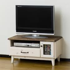 white and brown tv stand. TV Stand Width 80 Cm Whitewash White Brown Wood French Country Style Low Type Board Living AV Storage Make On And Tv