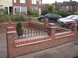 Small Picture Front Garden Brick Wall Designs Home Interior Design Ideas