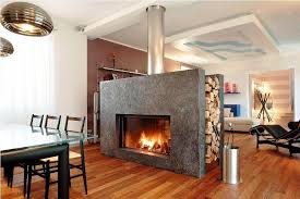 image of modern double sided fireplace pictures