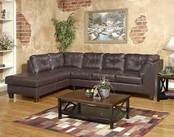 Amazon.com: Roundhill Furniture Marinio Chocolate Faux Leather Left Chaise Sectional  Sofa: Kitchen & Dining