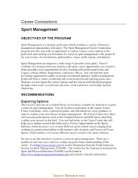 Simple Sports Management Resume Objective Examples Resume For Sports