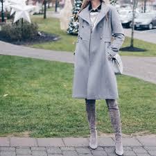 women s gray wool military winter coat