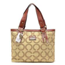 Classic Coach Borough Logo In Signature Large Khaki Totes BQN With Brand  Quality