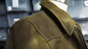 upclose view of ateliersavas s one on of a kind leather jacket