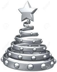 Grey Christmas Tree Christmas Tree Silver Grey Abstract Decoration With Shiny Star