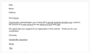 Thank You Letter For Food Donation Food Donation Thank You Letter Template Donor Acknowledgement