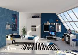 ... Stunning and stylish teenage boys' bedroom design idea in blue