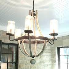 c wine barrel stave chandelier wooden shades of light