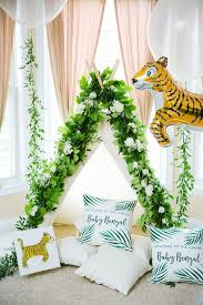 jungle baby shower theme decorations