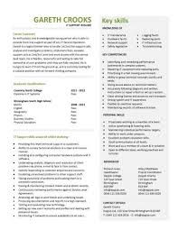It Support Cv Sample Helpdesk Writing A Good Cv Resume