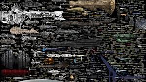 Enterprise Size Comparison Chart Starship Size Comparison Star Wars Ships To The Star Trek