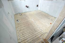 Heated Bathroom Floor Classy How To Install A Heated Tile Floor And Also How NOT To Install A