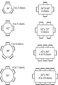 round table sizes for size 6 person co decorating ideas 5 rectangular what square tablecloth 60