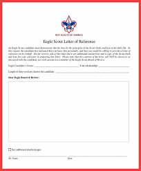 eagle scout letter of recommendation form eagle scout recommendation memo example