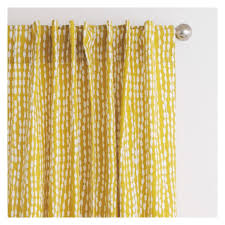 trene pair of mustard yellow patterned curtains 145 x 170cm