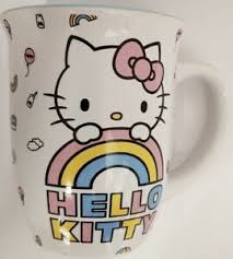 Get the best deals on hello kitty coffee mug in collectible hello kitty items when you shop the largest online selection at ebay.com. Hello Kitty White Pastel On Rainbow 16oz Ceramic Coffee Mug Ebay