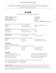 Modeling Resume Template Awesome Film Resume Examples Example Unique Acting Modeling Template Model