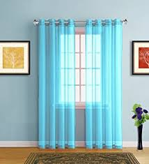 Warm Home Designs Baby Blue Sheer Window Curtains With
