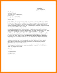 Teachers Application Sample Of Application Letter For Teacher
